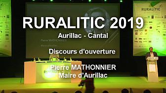 RURALITIC 2019 à Aurillac :  Discours introductif de Pierre Mathonnier Maire d'Aurillac @RURALITIC2019 #Aurillac @MTN_cote #SmartCity @cedric_o