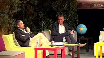 Pierre Mathonier, Maire d'Aurillac et Président du bassin d'Aurillac, et Jean-François Lachaume à Ruralitic 2020 #Ruralitic2020 @MTN_cote @LeCnam @cantalauvergne