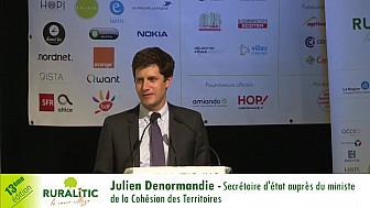RuraliTIC 2018 : Julien Denormandie - Secrétaire d'Etat auprès du premier ministre de la Cohésion des Territoires
